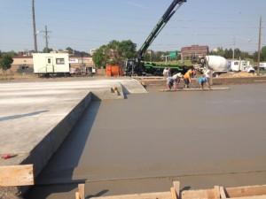 Concrete pad work